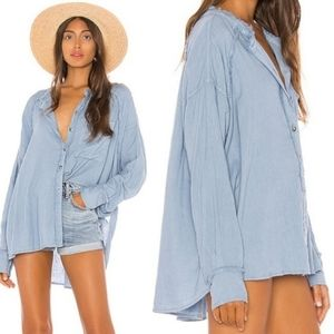 NWT Free People Keep It Simple Button Down